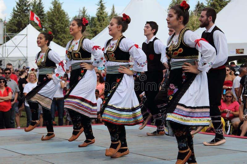 塞尔维亚民间舞合奏 免版税图库摄影