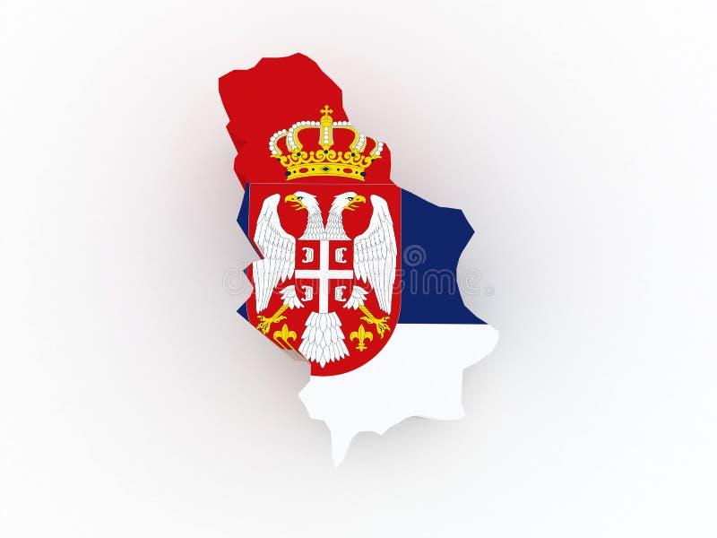 塞尔维亚的地图。 库存例证