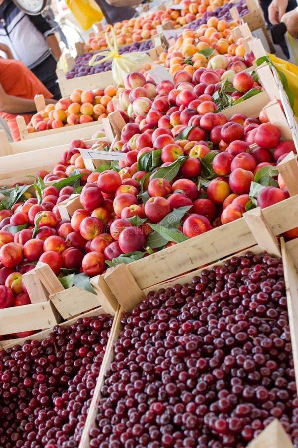 从塞尔维亚的新鲜的有机果子 库存照片