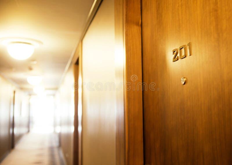 塞尔维亚,贝尔格莱德- 2017年5月30日 多明戈旅馆客房santo 对热的门 免版税库存图片