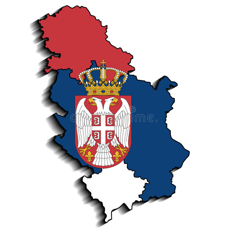 塞尔维亚 皇族释放例证