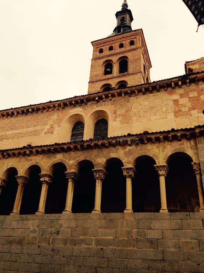 塞戈维亚教会 库存图片