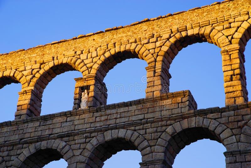 塞戈维亚罗马渡槽-塞戈维亚最重要的建筑地标  免版税库存图片