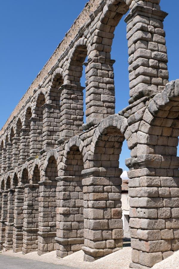 塞戈维亚罗马渡槽  免版税库存照片