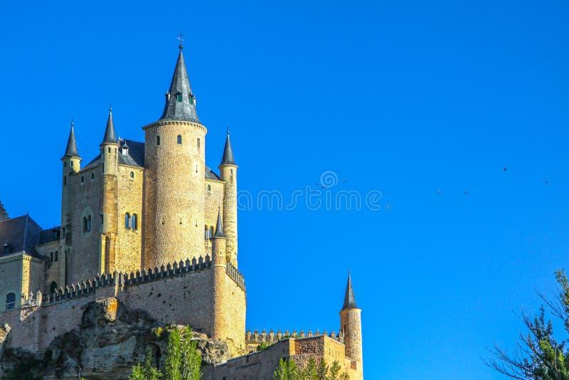 塞戈维亚,西班牙城堡城堡  卡斯蒂利亚le n y 库存图片