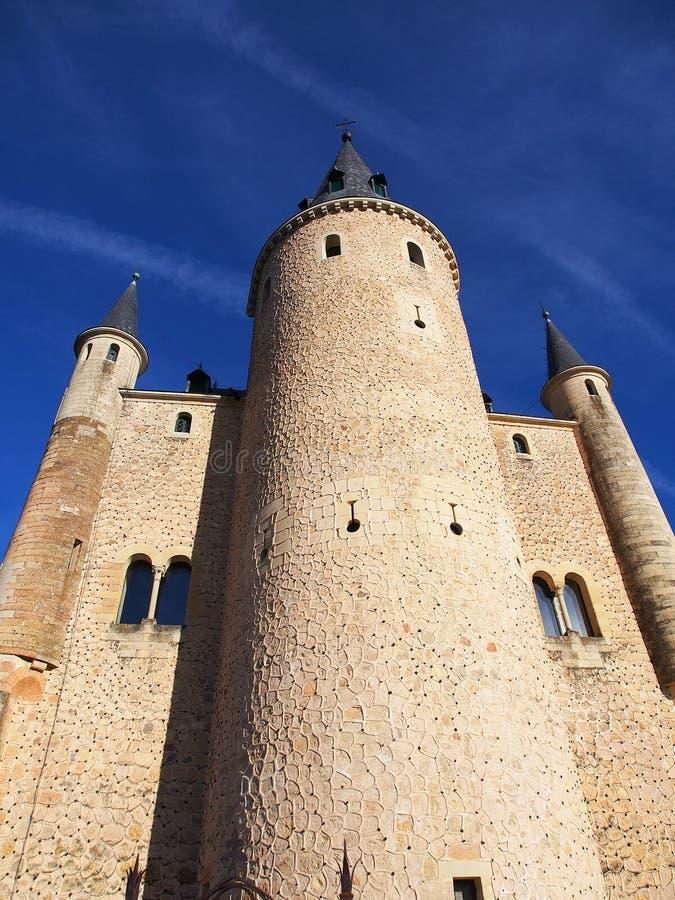 塞戈维亚城堡 免版税库存照片