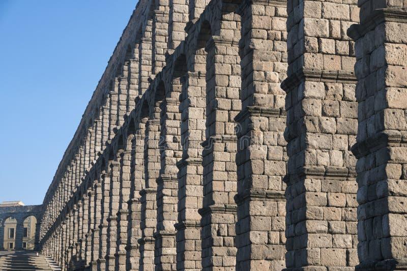 塞戈维亚西班牙:罗马渡槽 免版税库存照片