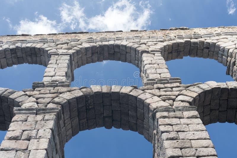 塞戈维亚西班牙:罗马渡槽 免版税图库摄影