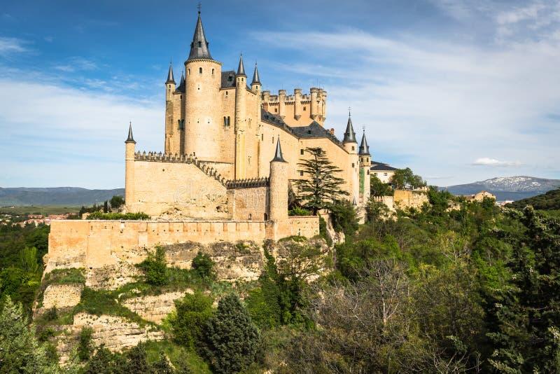 塞戈维亚,卡斯蒂利亚y利昂,西班牙著名城堡  免版税库存照片