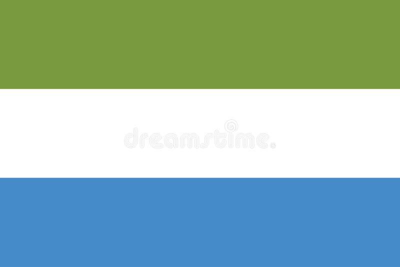 塞拉利昂旗子的传染媒介图象 皇族释放例证