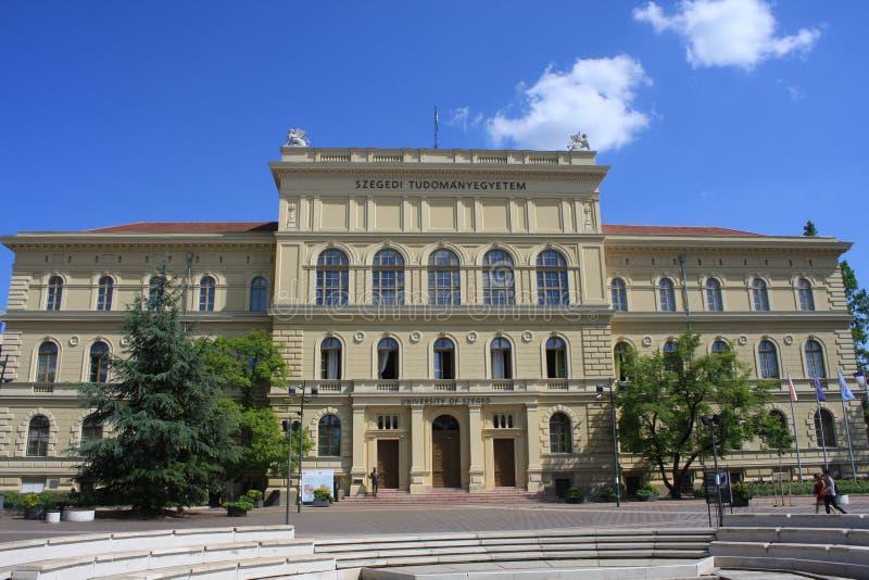 塞格德大学,位于Dugonich广场 免版税库存图片