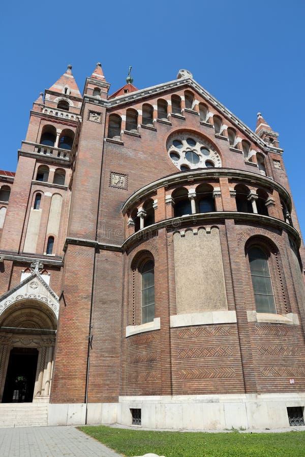 塞格德教堂 库存照片