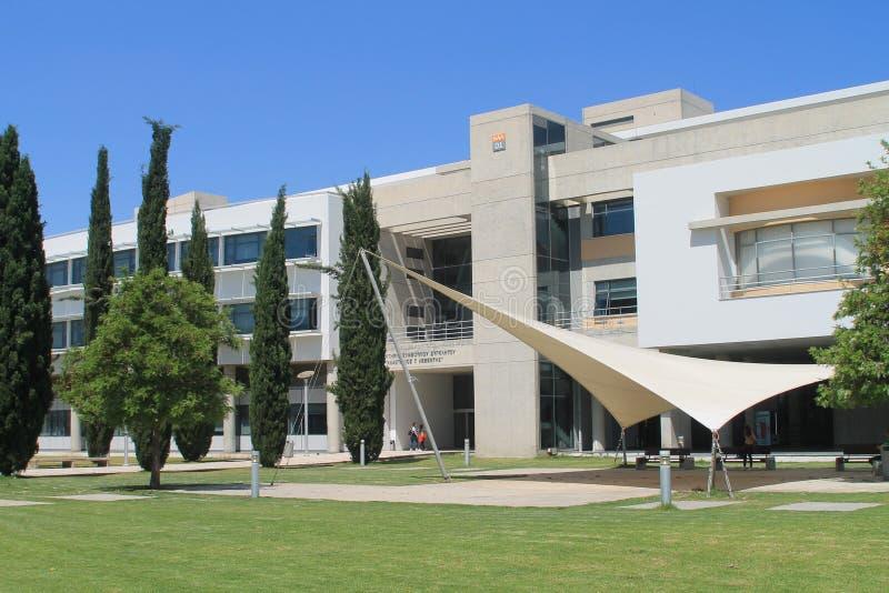 塞浦路斯大学行政大厦 免版税库存图片