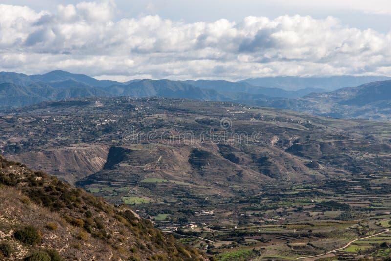 塞浦路斯山景 图库摄影