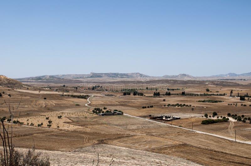 塞浦路斯干旱的风景 库存图片