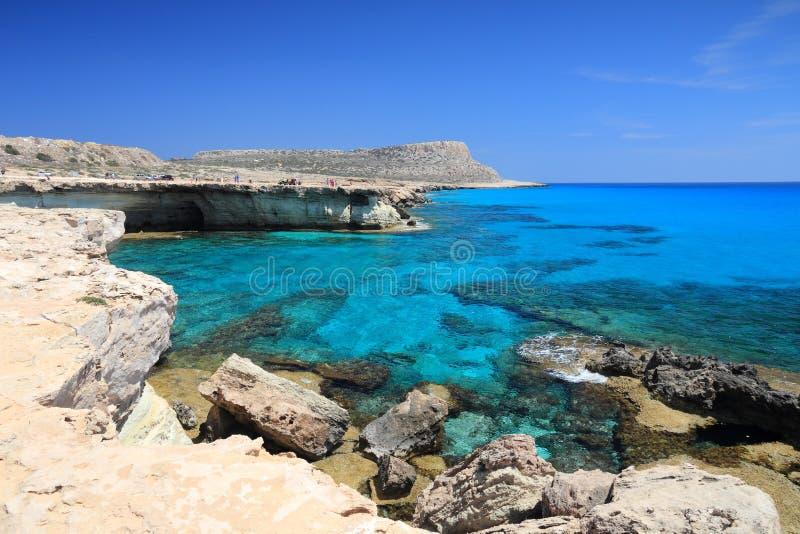 塞浦路斯海洞 库存图片