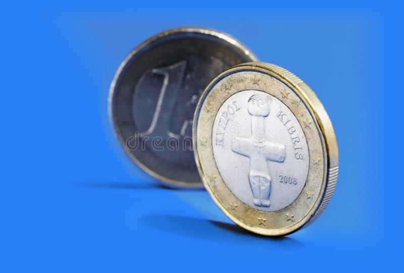 塞浦路斯欧元 免版税库存照片