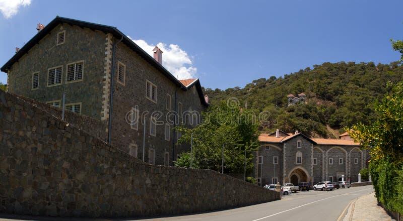 塞浦路斯 Kikkos修道院全景  库存图片