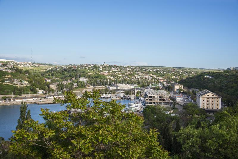 塞瓦斯托波尔美丽的景色  免版税库存图片