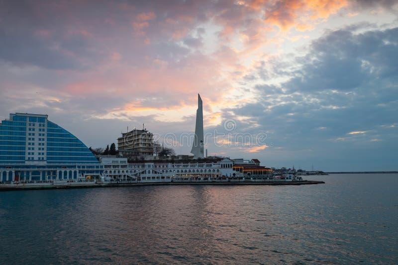 塞瓦斯托波尔,克里米亚沿海风景  图库摄影