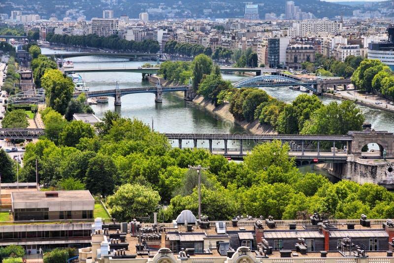 塞纳河在巴黎 免版税库存照片
