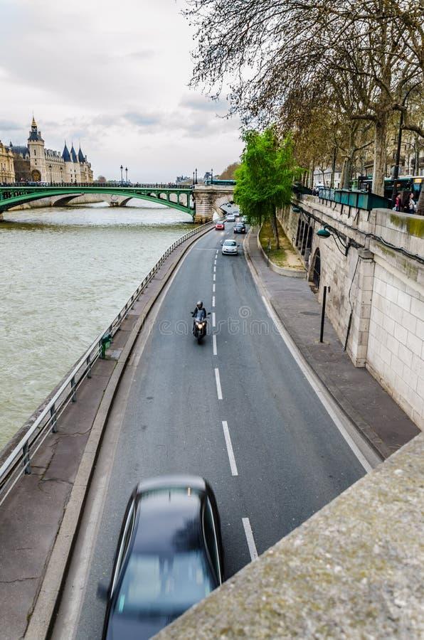 塞纳河,巴黎 库存照片