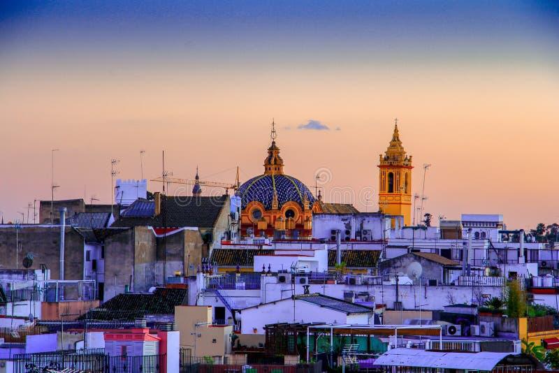 塞维利亚西班牙视图卡特德拉尔de塞维利亚塞维利亚主教座堂全景  免版税库存照片