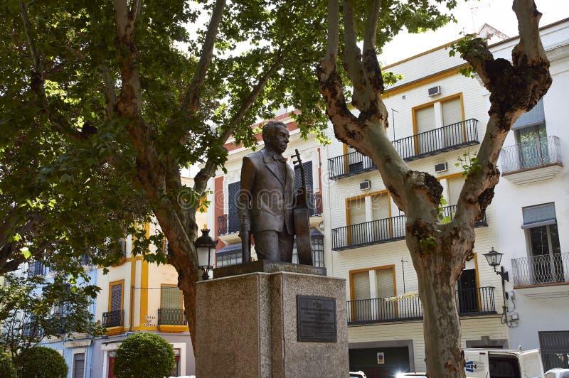 塞维利亚,西班牙的历史建筑和纪念碑 西班牙建筑风格哥特式和Mudejar,巴洛克式 免版税图库摄影