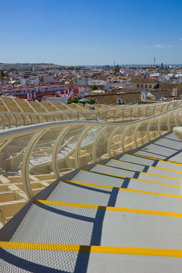 塞维利亚,西班牙都市风景  库存图片