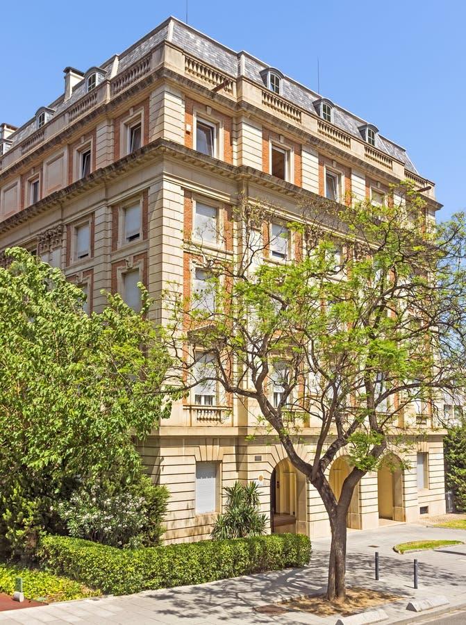 巴塞罗那典型的建筑学  库存图片