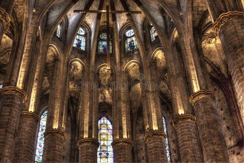 巴塞罗那卡塔龙尼亚,西班牙大教堂  库存图片
