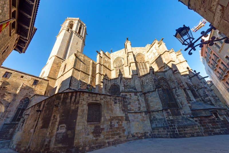 巴塞罗那大教堂  图库摄影