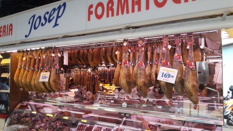 巴塞罗那市市场 库存图片