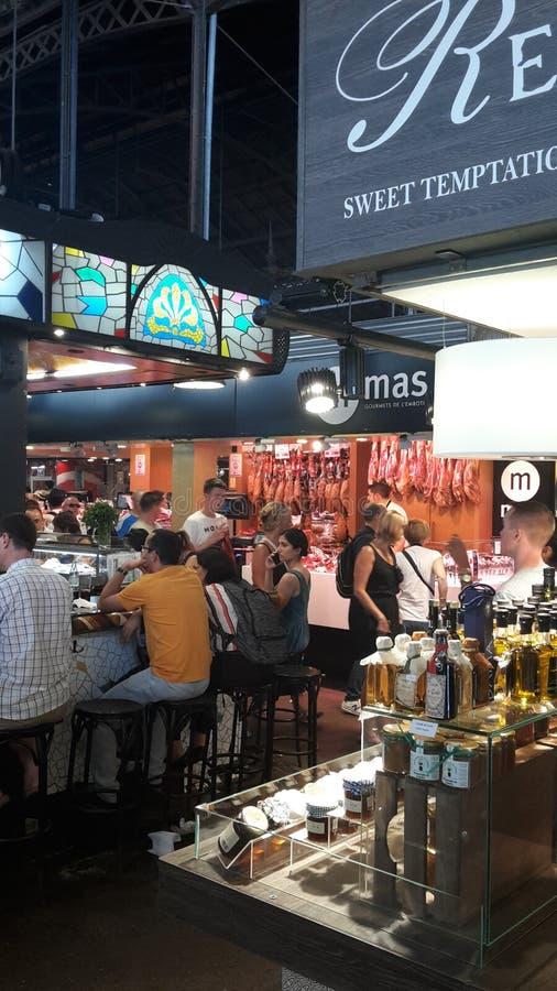 巴塞罗那市市场 免版税库存照片