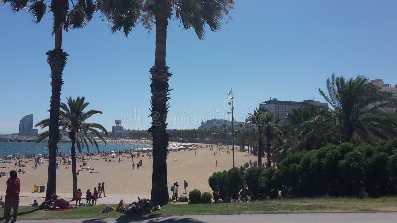 巴塞罗那市海滩 库存图片
