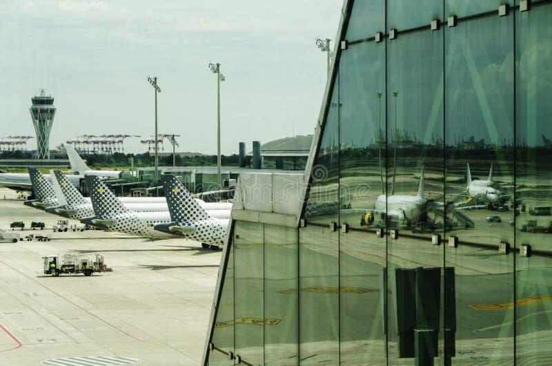 巴塞罗那机场 免版税库存图片