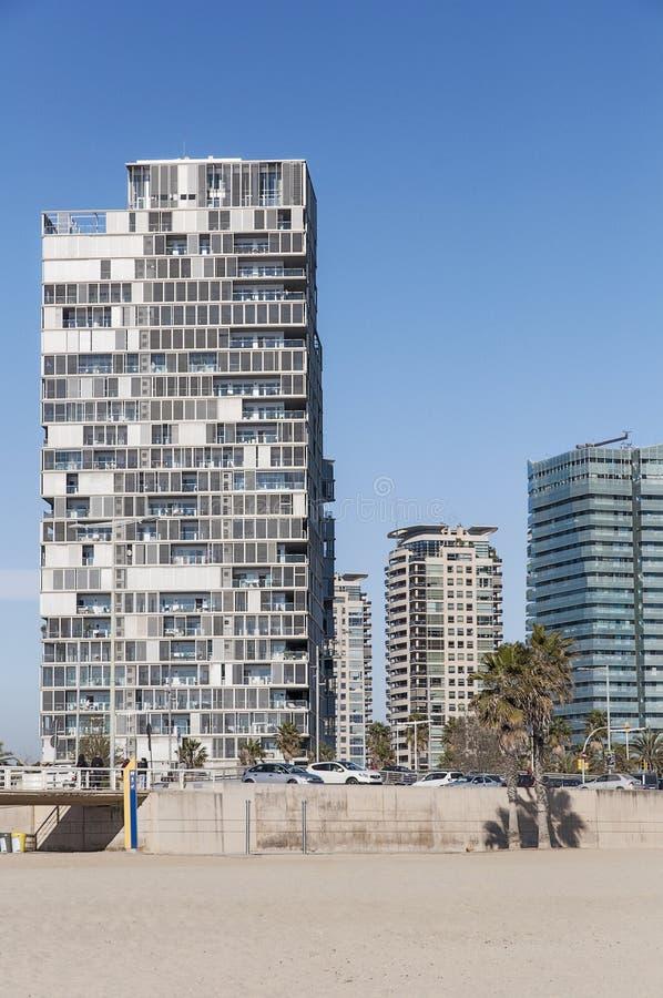 巴塞罗那现代大厦  免版税库存照片