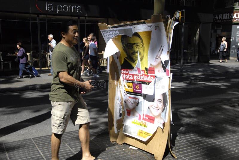 巴塞罗那理事会表决 免版税库存图片
