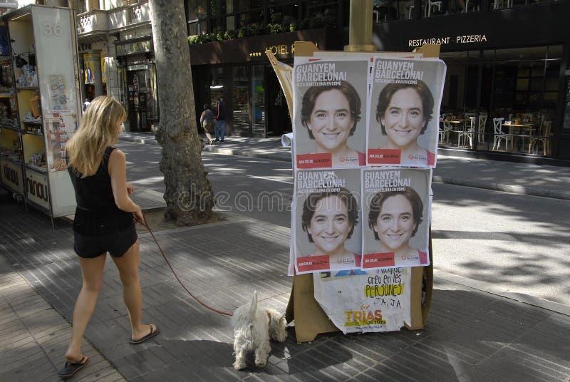 巴塞罗那理事会表决 免版税库存照片