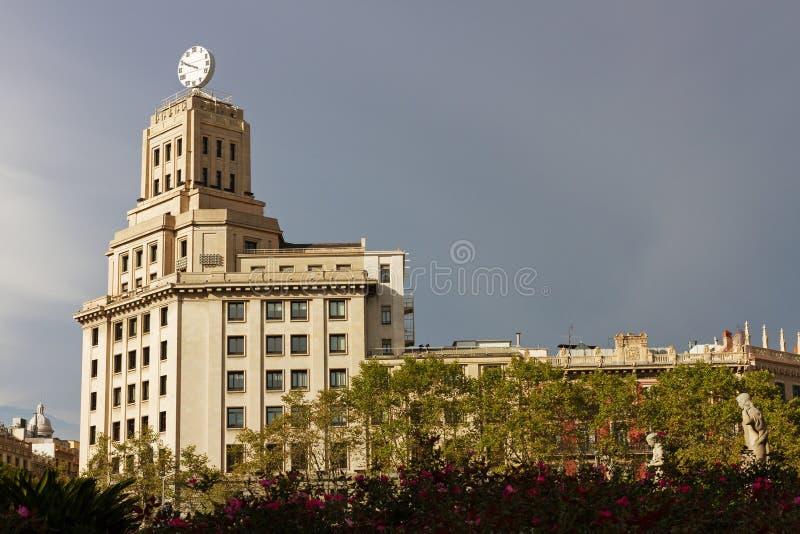 巴塞罗那的中心 免版税库存照片