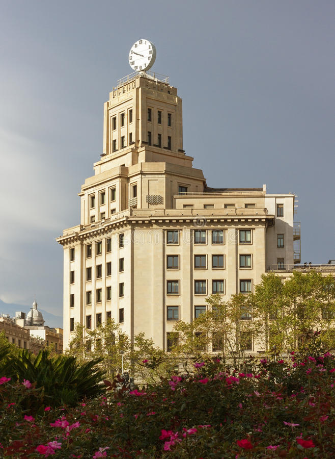 巴塞罗那的中心 免版税库存图片