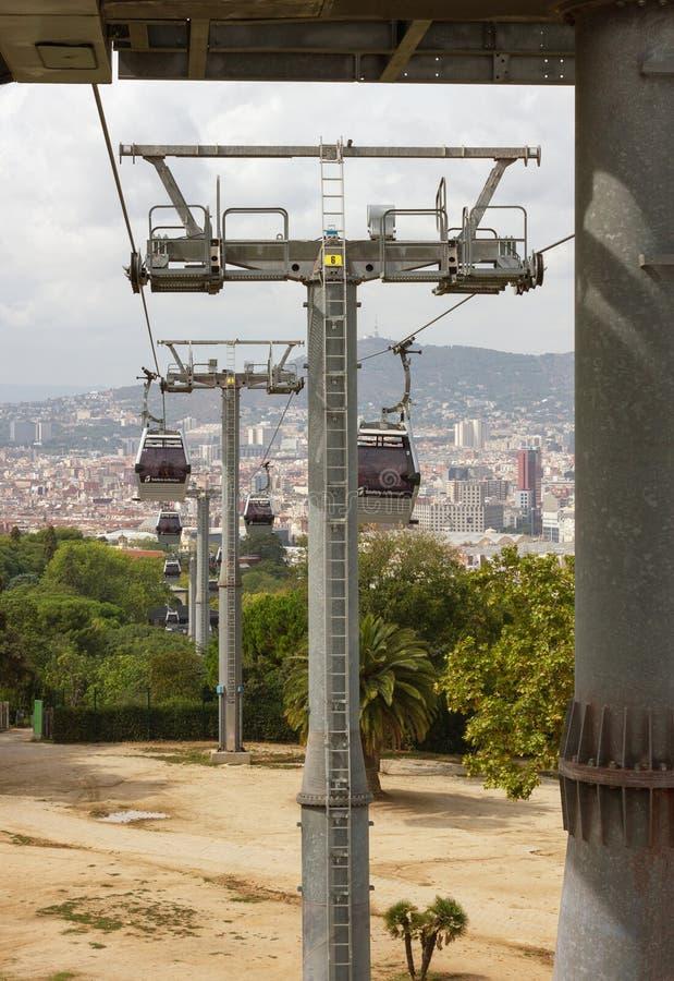 巴塞罗那看法从空中览绳的 库存图片