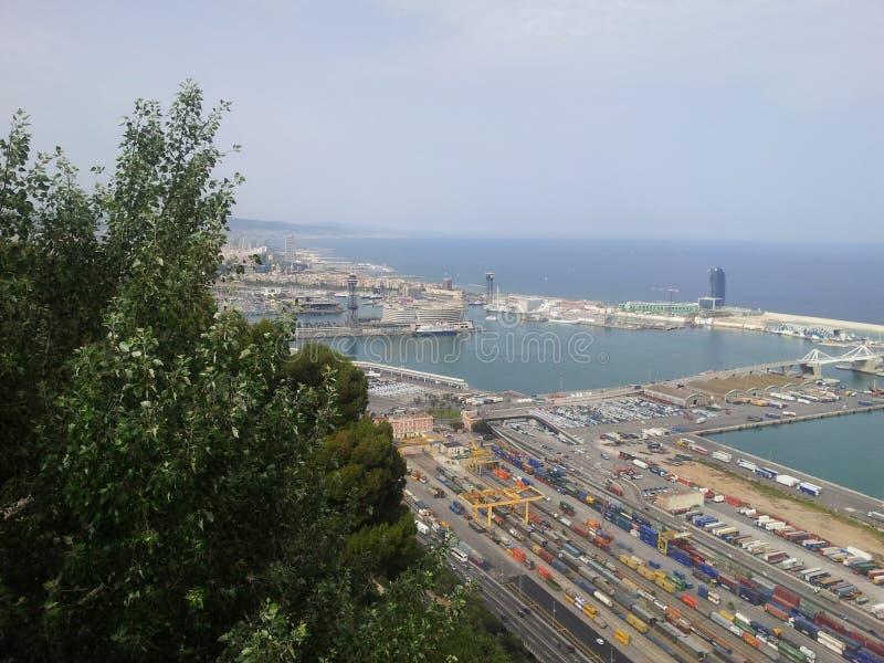 巴塞罗那端口西班牙 免版税图库摄影