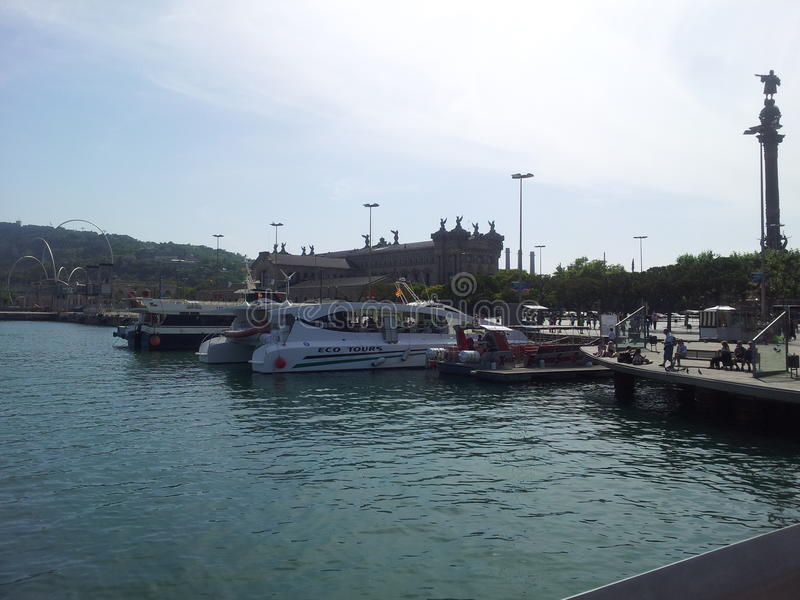 巴塞罗那端口 库存图片