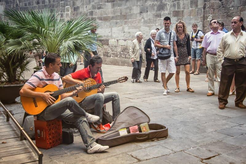 巴塞罗那老镇 库存照片