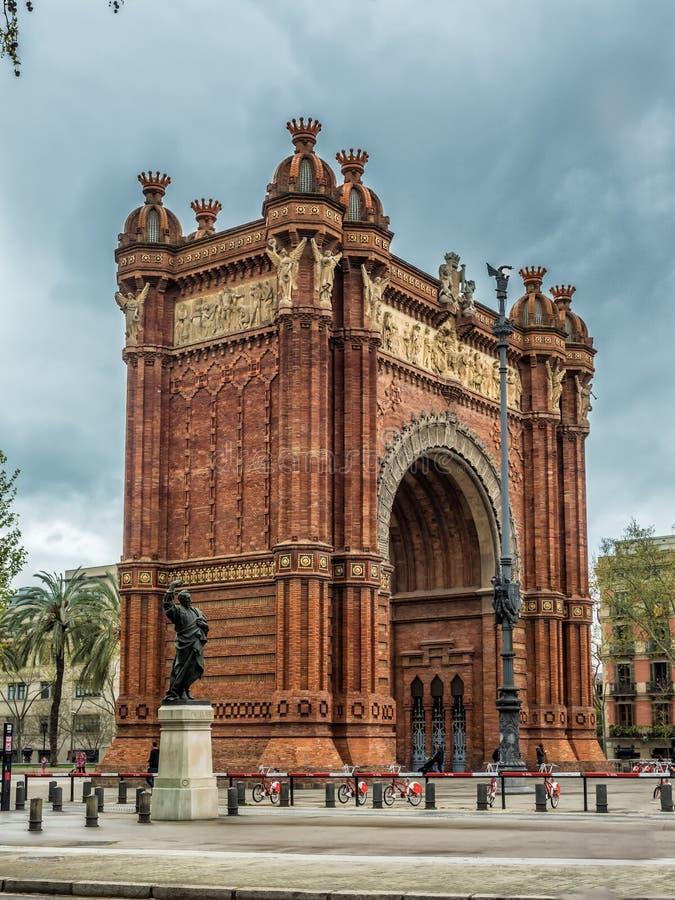 巴塞罗那胜利曲拱,西班牙 图库摄影