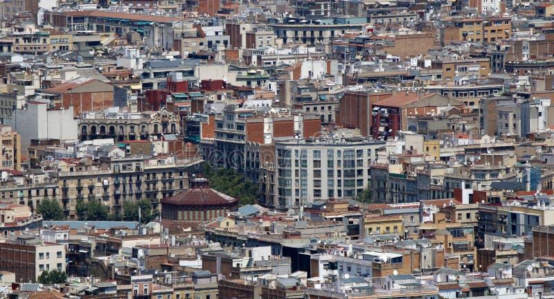 巴塞罗那街道和家 免版税库存照片