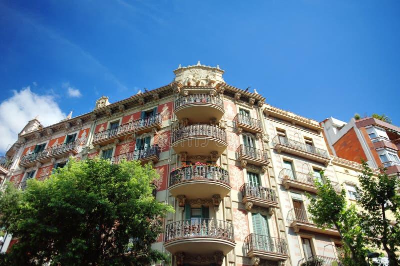 巴塞罗那,修造在哥特式建筑样式 图库摄影