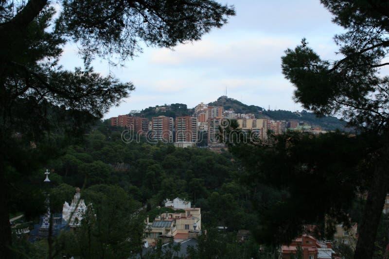 巴塞罗那,公园Guel 免版税库存图片