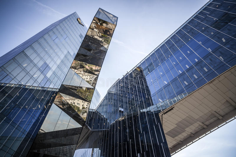 巴塞罗那,现代建筑学 库存照片